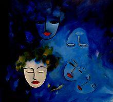 Dreaming in a blue world by nelly  van nieuwenhuijzen