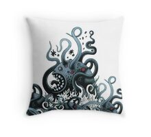 Octoworm (blue version) Throw Pillow
