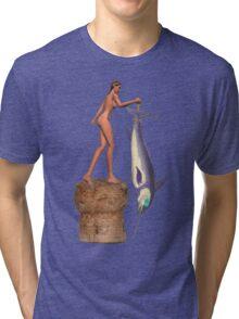 Jessi got herself a right big Fish. Tri-blend T-Shirt