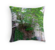 Tree growing  from Hong Kong rock face. Throw Pillow
