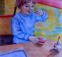 Having Dessert by Margaret Sanderson