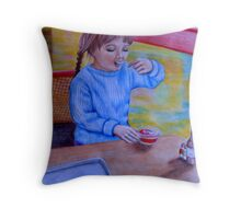 Having Dessert Throw Pillow