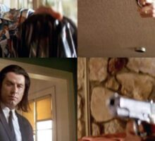 Pulp Fiction Characters and Guns (Diner Scene) Sticker