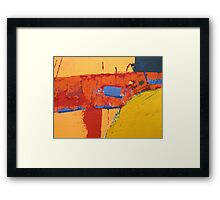 Red Earth Particles 6 Framed Print