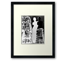 Four White Flowers Framed Print