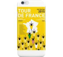 MY TOUR DE FRANCE MINIMAL POSTER 2015-2 iPhone Case/Skin