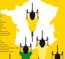 MY TOUR DE FRANCE MINIMAL POSTER 2015-2 Sticker