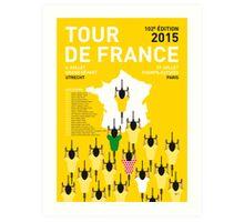 MY TOUR DE FRANCE MINIMAL POSTER 2015-2 Art Print