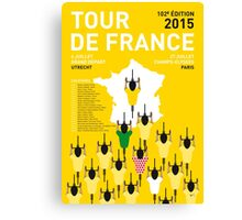 MY TOUR DE FRANCE MINIMAL POSTER 2015-2 Canvas Print