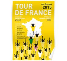 MY TOUR DE FRANCE MINIMAL POSTER 2015-2 Poster