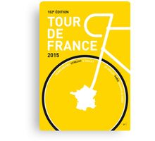 MY TOUR DE FRANCE MINIMAL POSTER 2015 Canvas Print
