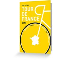 MY TOUR DE FRANCE MINIMAL POSTER 2015 Greeting Card