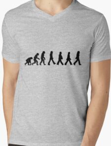 Human Evolution (The Beatles) Mens V-Neck T-Shirt