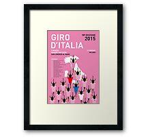MY GIRO D'ITALIA MINIMAL POSTER 2015-2 Framed Print