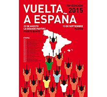 MY VUELTA A ESPANA MINIMAL POSTER 2015-2 Photographic Print
