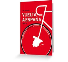 MY VUELTA A ESPANA MINIMAL POSTER 2015 Greeting Card