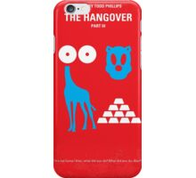No145 My THE HANGOVER Part III minimal movie poster iPhone Case/Skin