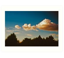 Summer sky above Moscow Art Print