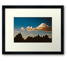 Summer sky above Moscow Framed Print