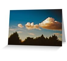 Summer sky above Moscow Greeting Card
