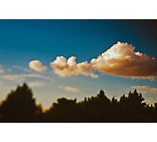 Summer sky above Moscow Photographic Print