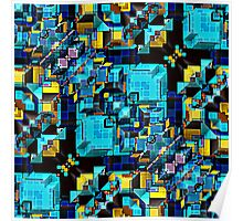 Blue Technology Abstract   Poster