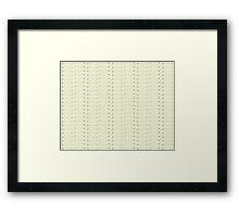 Arrows ----> Framed Print