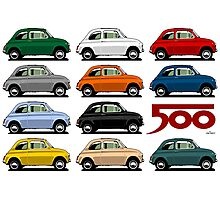 Classic Fiat 500 Photographic Print