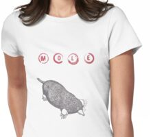 Typo Mole - Stamp Art Womens Fitted T-Shirt