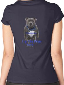 Up the dogs! Women's Fitted Scoop T-Shirt