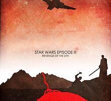 Star Wars Minimalist Film Wall Art - Revenge of the Sith by JamieHarknett