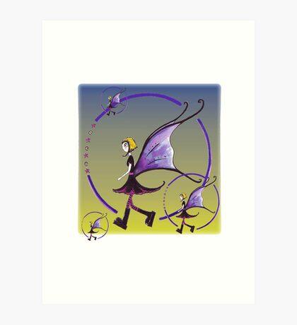 Goth Fairy Art Print