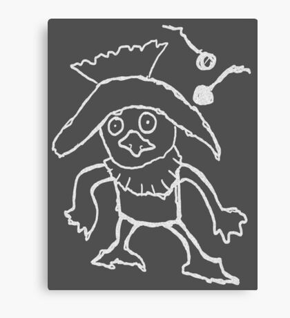 skull kid's sketch Canvas Print