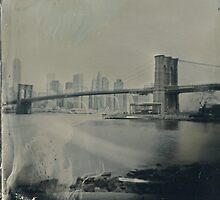 View From Brooklyn Bridge Park (Tintype) by Kevin Koepke