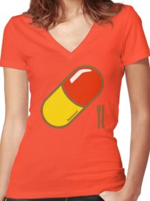 Rhubarb & Custard  Women's Fitted V-Neck T-Shirt