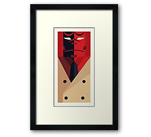 Boy from Hell in Trench Coat Framed Print