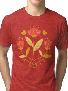 flowers everywhere/3 Tri-blend T-Shirt