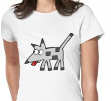Naughty dog! Womens Fitted T-Shirt
