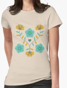 flowers everywhere/2 Womens Fitted T-Shirt