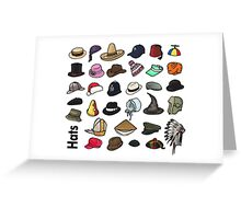 Hats Greeting Card
