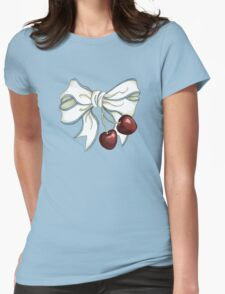 cherries-ribbon Womens Fitted T-Shirt