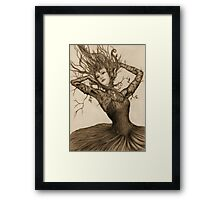 Dancing Tree Girl Framed Print