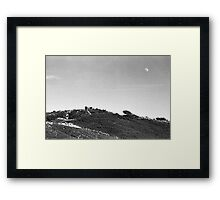 Moonrise Over Dunes Framed Print
