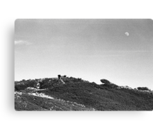 Moonrise Over Dunes Canvas Print