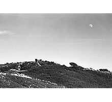 Moonrise Over Dunes Photographic Print