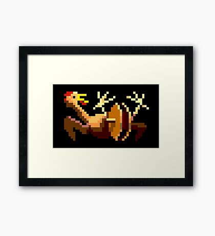 Rubber chicken with a pulley in the middle (Monkey Island) Framed Print