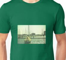 BOAT ON THE BAY Unisex T-Shirt