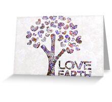 Purple blossom love earth Greeting Card