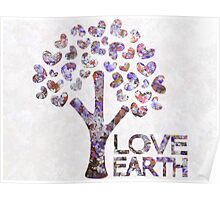 Purple blossom love earth Poster