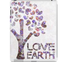 Purple blossom love earth iPad Case/Skin